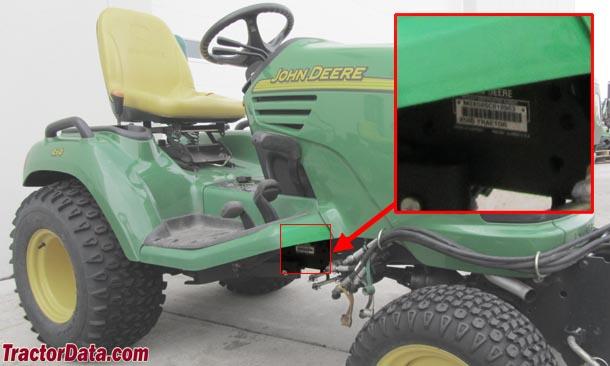 TractorData.com John Deere X595 tractor information