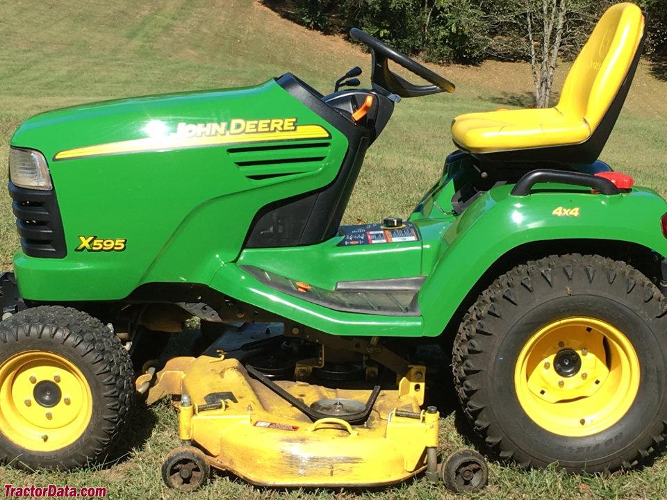 TractorData.com John Deere X595 tractor photos information
