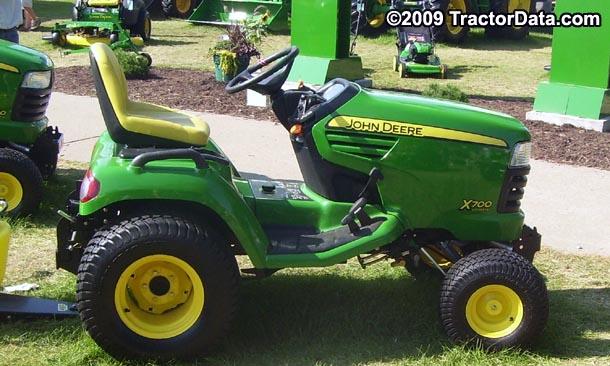 TractorData.com John Deere X700 tractor photos information