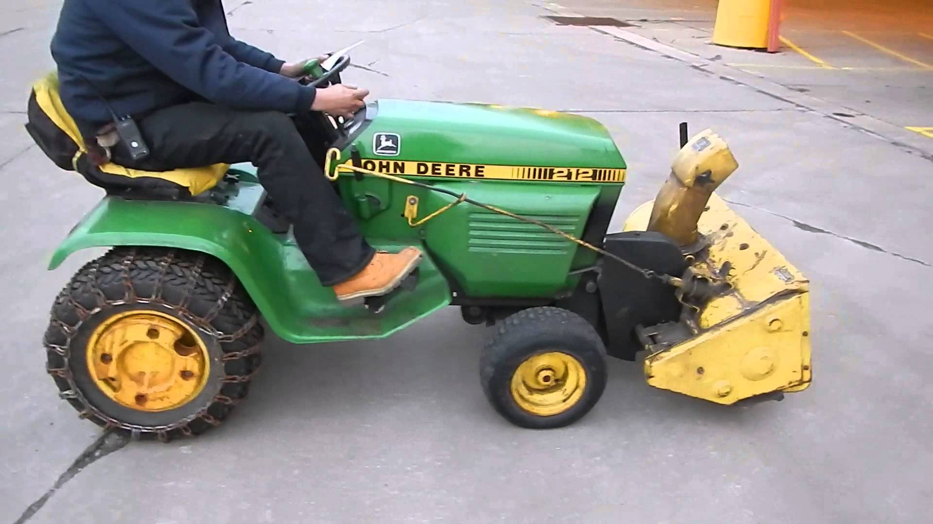212 John Deere Riding Lawn Mower Includes 38 Snow Blower ...
