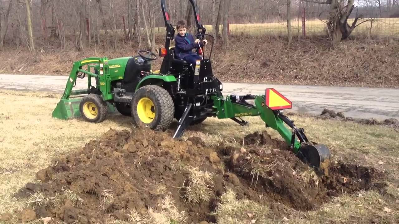 John Deere Backhoe 46 2320 tractor - YouTube