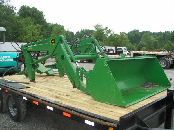 1328: John Deere 245 Loader with brackets for Tractors ...