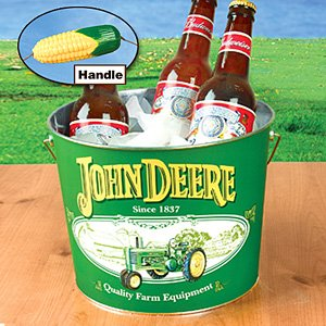 Amazon.com : John Deere Tin Bucket w/Corn Handle : Coolers ...