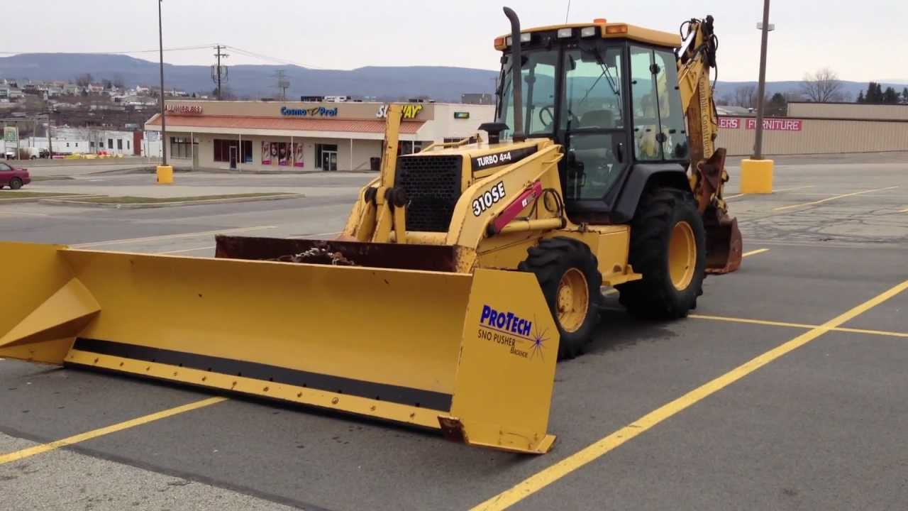 JOHN DEERE BACKHOE 310SE TURBO 4X4 WITH A PRO-TECH SNO ...