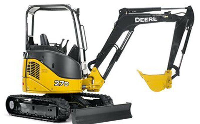 JOHN DEERE 27D MINI EXCAVATOR (GRAPPLE CLAW AVAILABLE ...