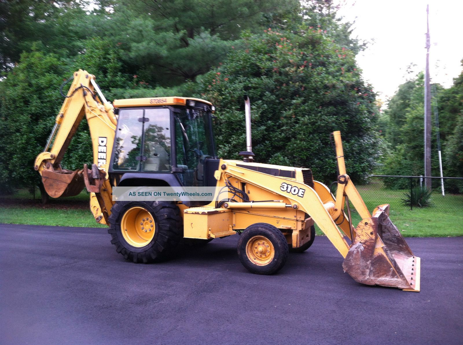 John Deere 310e Backhoe Loader, Enclosed Cab Heat & Air ...