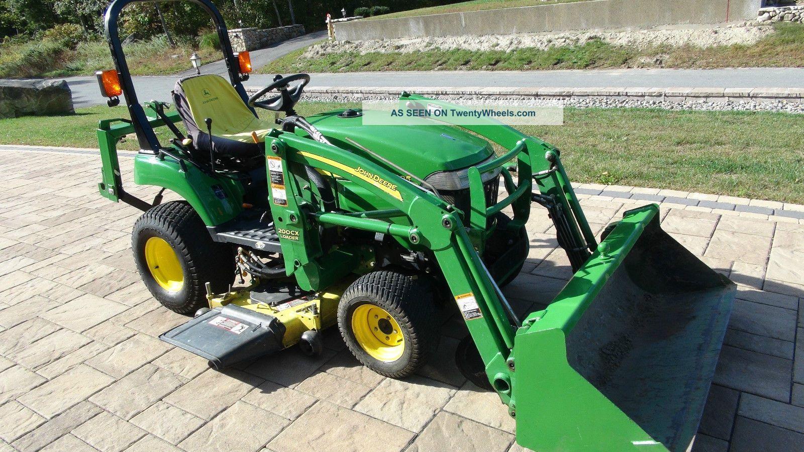 John Deere 2305 4x4 Diesel Tractor Loader 54 Mower W ...
