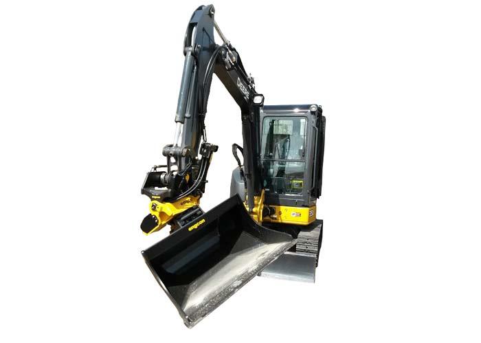 John Deere 35D with Tiltrotator Mini Excavator Rental | RENT1