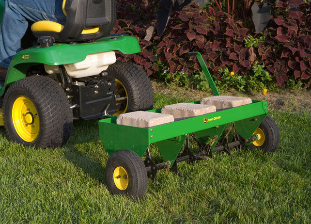 John Deere 40-inch Plug Aerator Yard & Lawn Care Riding ...