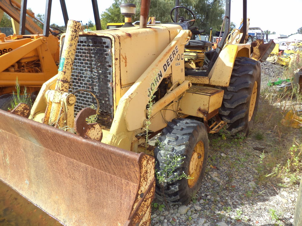 john deere 410 C backhoe Diesel 4 x4 bucket, Ex-hoe cab | eBay