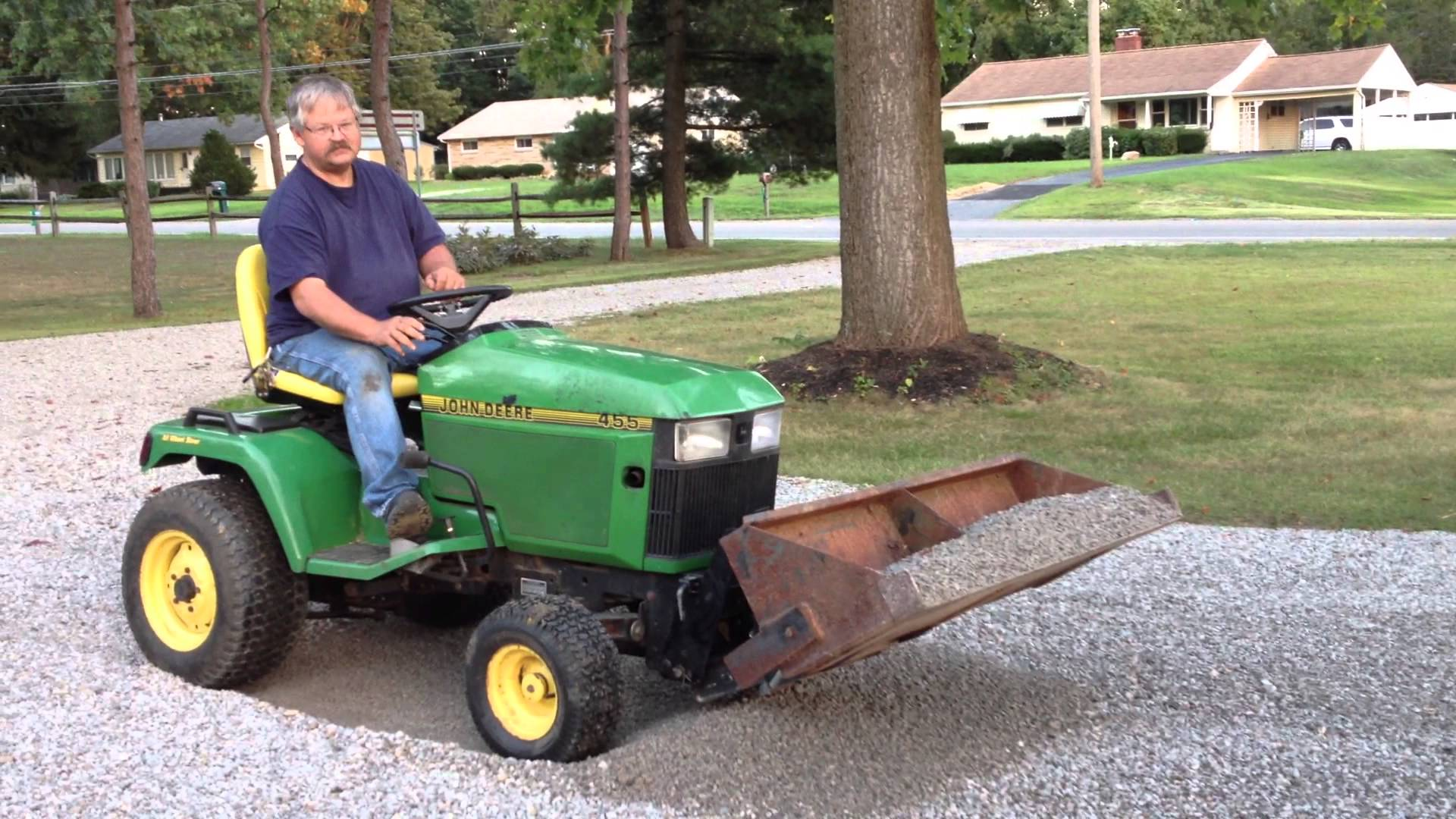 John Deere 455 with Johnny Loader - YouTube