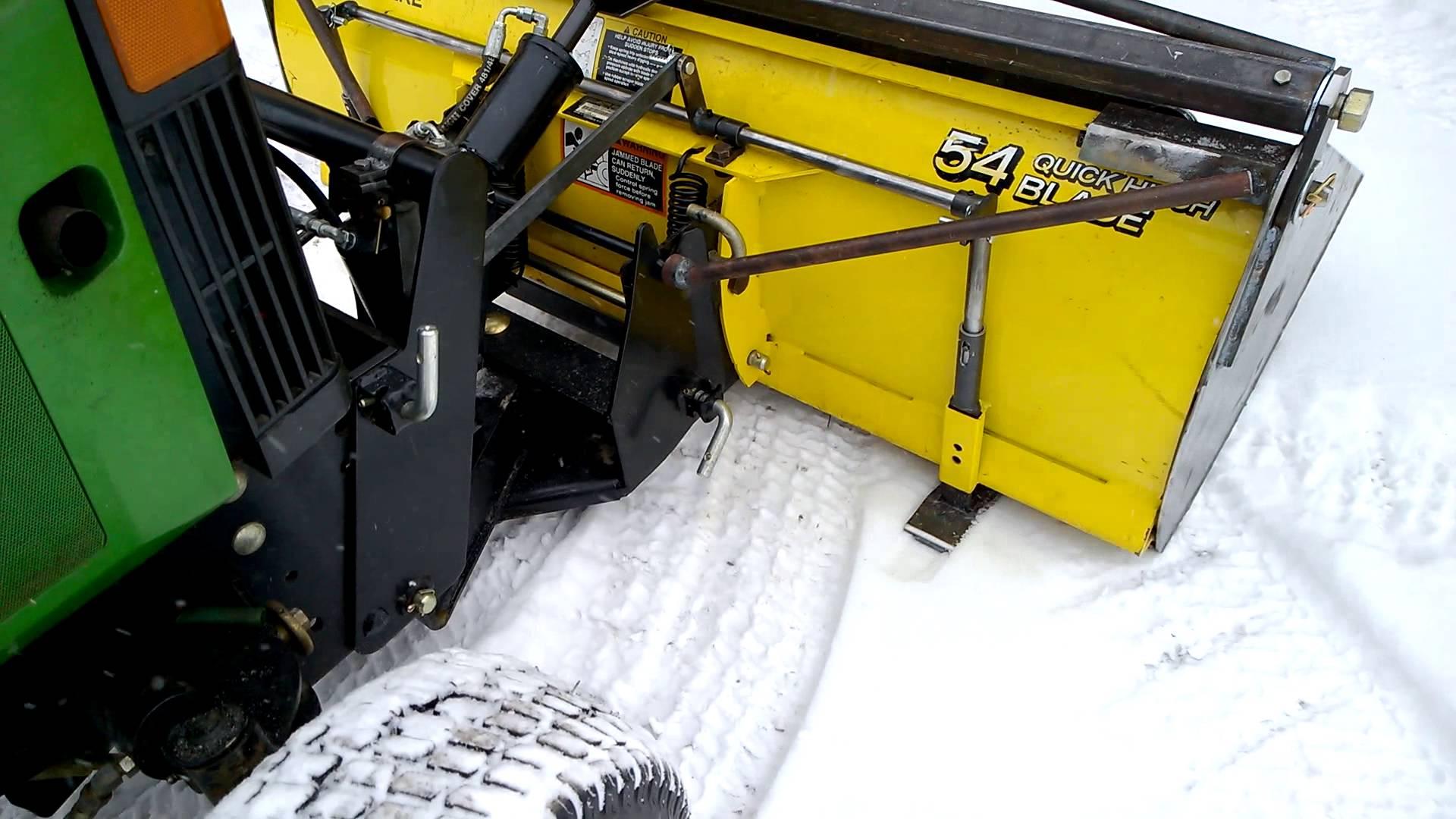 John Deere 54 Plow Bucket in the snow - YouTube