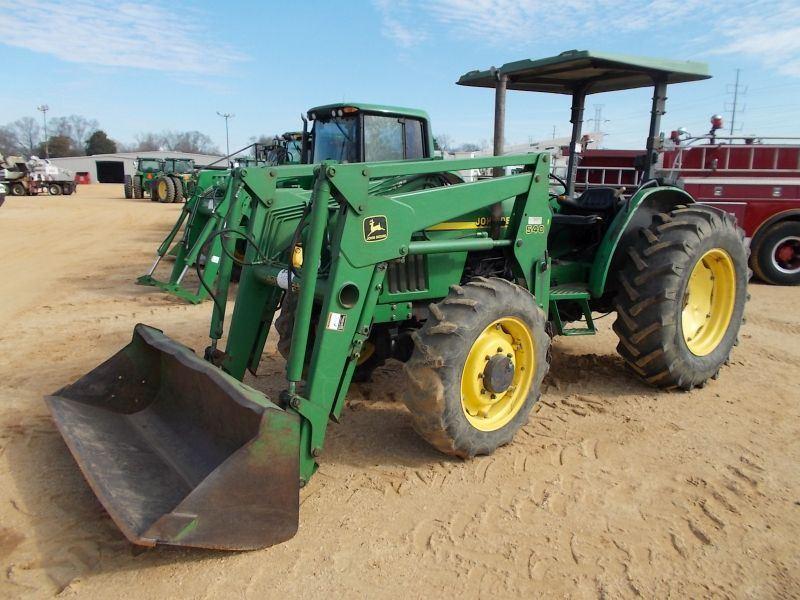 JOHN DEERE 5410 MFWD FARM TRACTOR, S/N 142245, JD 540 ...