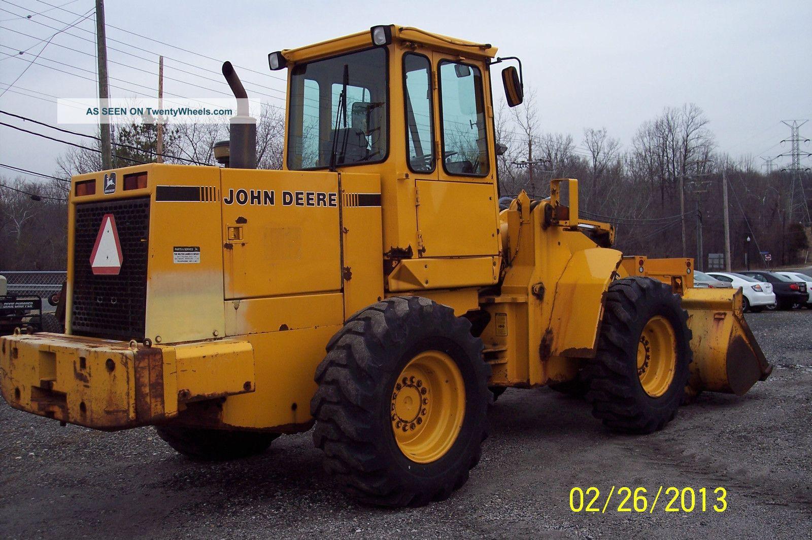 John Deeer 1990 544e Wheel Loader 6989 Hrs Bucket Size 2 ...