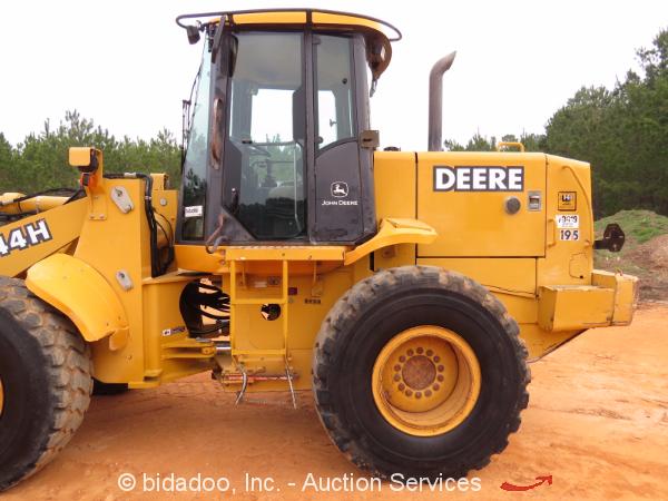 2003 John Deere 544H Articulated Wheel Loader A/C Cab 3 ...