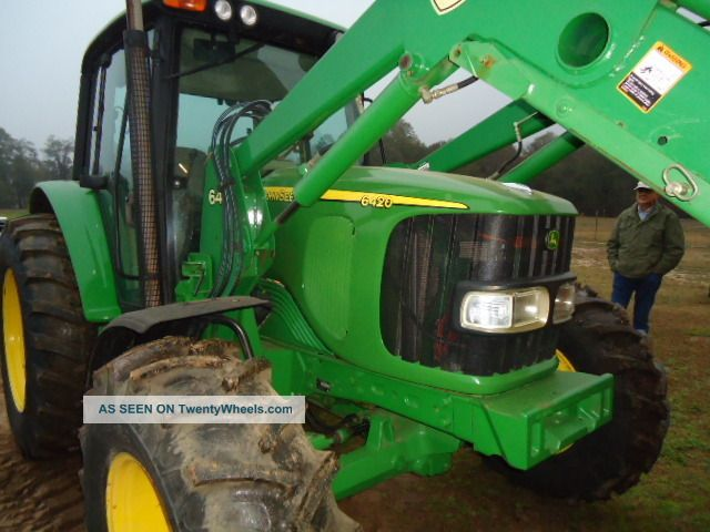 2004 John Deere 6420 Cab Tractor 4x4 With Jd 640 Front ...