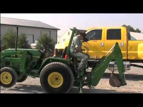 JOHN DEERE 790 TRACTOR WITH LOADER AND BACKHOE - YouTube