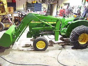 John Deere 850 tractor w/ mower loader bucket   eBay