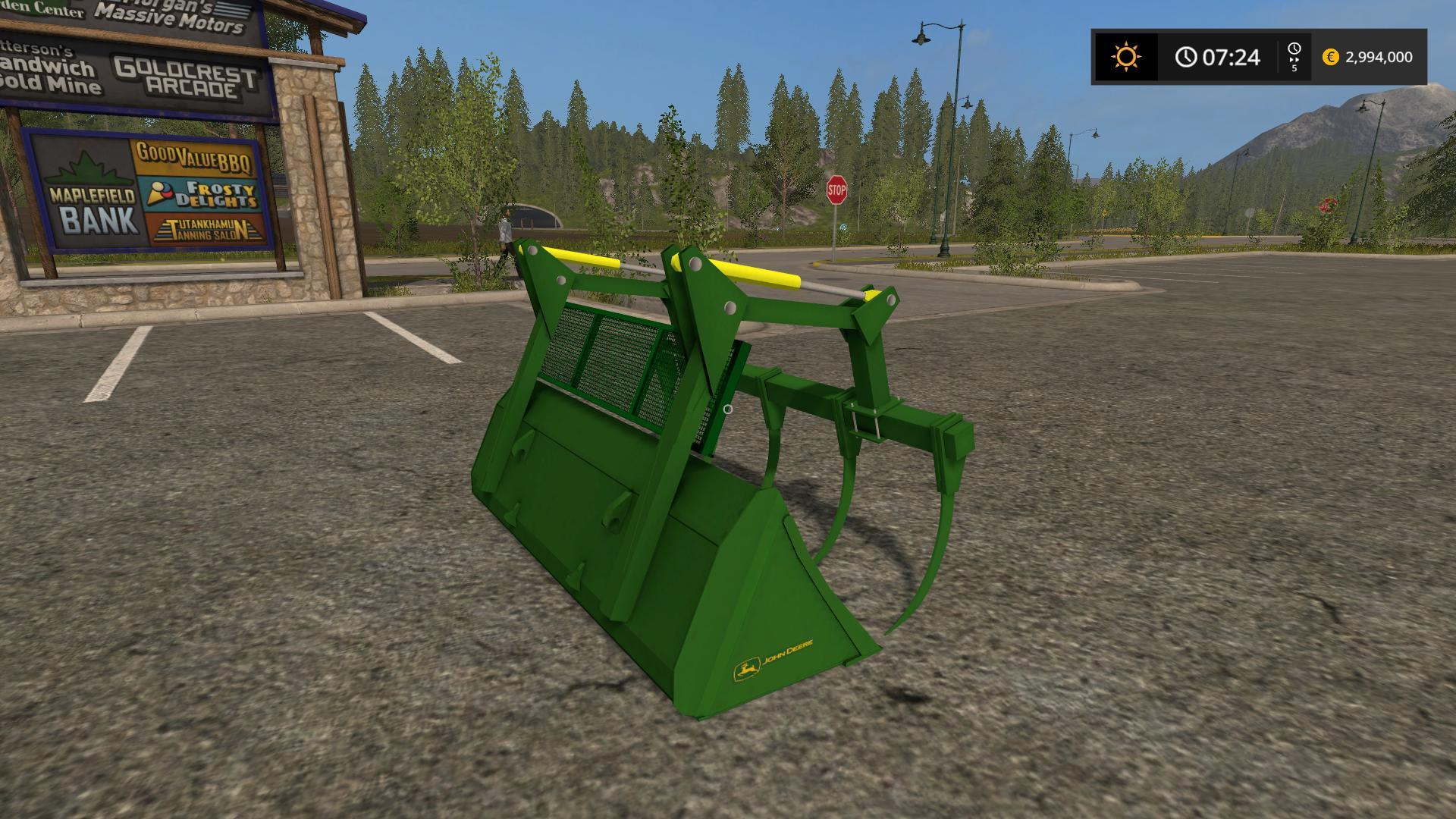 JOHN DEERE GRAPLE BUCKET V1.0 FS17 - Farming simulator ...