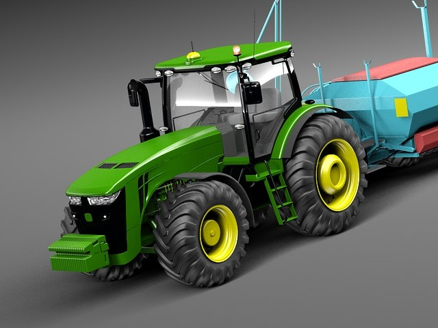 3D.ART.Reactor: 3D Model Excavator John Deere 290G