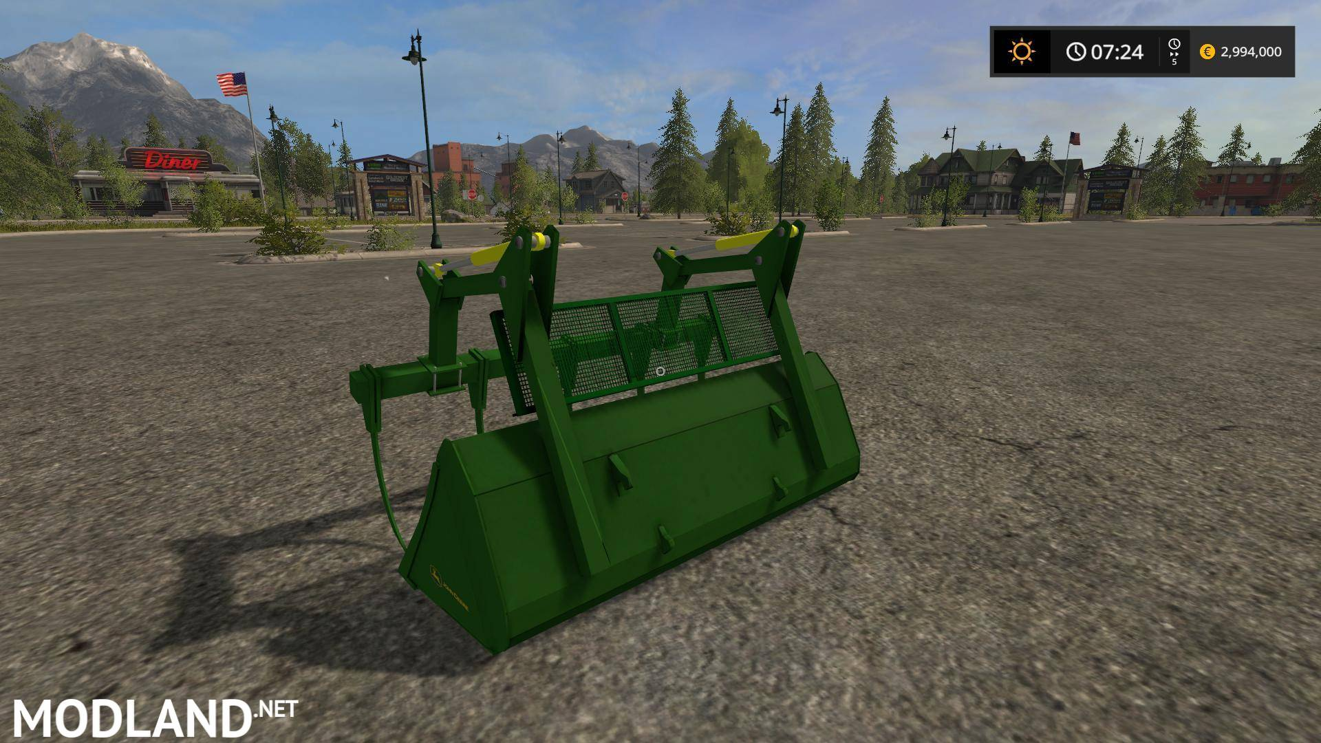 John Deere graple bucket v 1.0 mod Farming Simulator 17