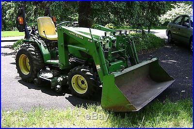 John Deere 4110 Compact Tractor with 61in. Bucket | Mowers ...