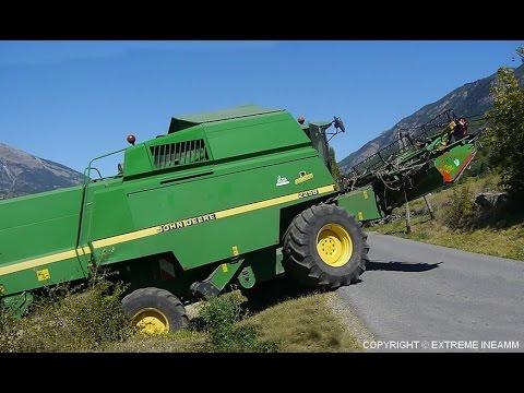 JOHN DEERE 2258 4WD Sortie de champ en montagne MOISSON DE ...