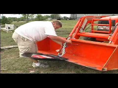 Skid Loader Tree Spade Bobcat Compact Tractor Deere Fork ...