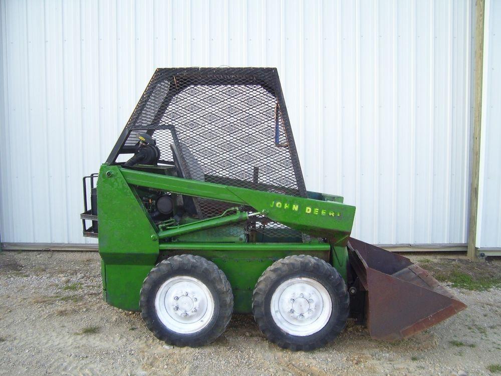 John Deere 70 skidsteer loader skid steer bucket | eBay