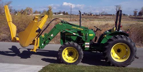 Tree Spade On A John Deere Tractor Photo by ...