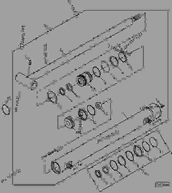 BUCKET CYLINDER (013055- ) [C23] - LOADER John Deere 420 ...