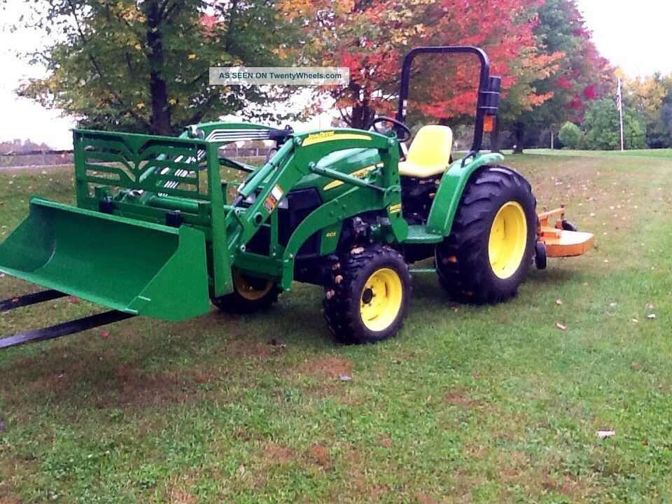 4105 4wd John Deere Loader Tractor/attachments