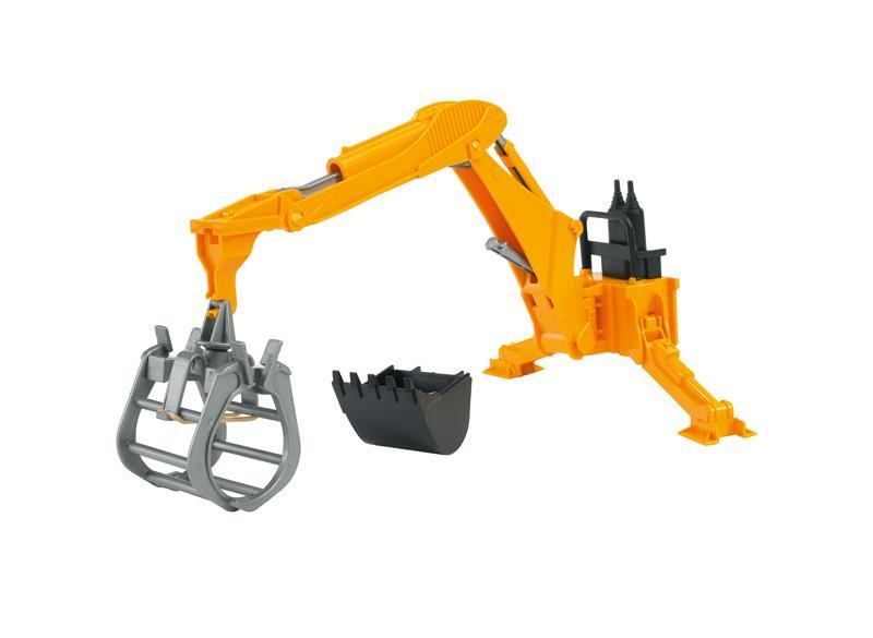 John Deere Rear hydraulic arm with grab and bucket