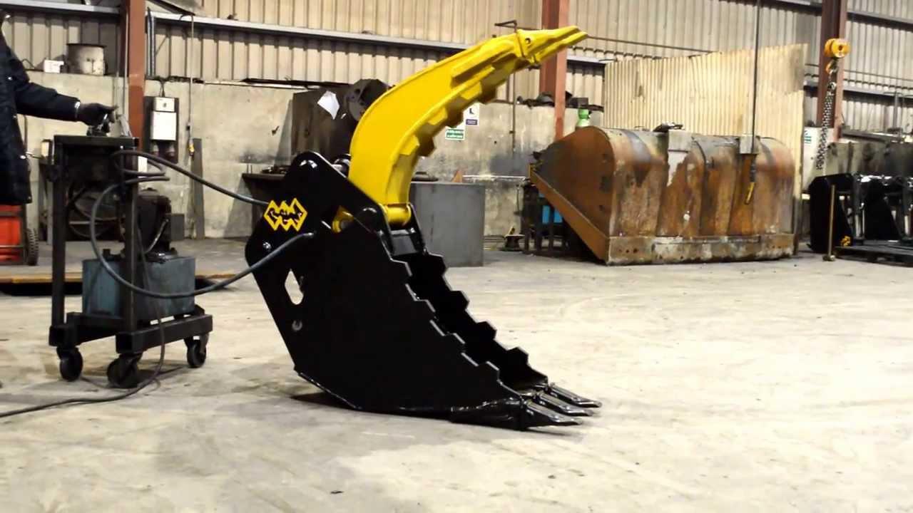 Excavator Grab Bucket HD - YouTube