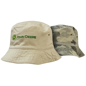 John Deere Men's Camo Reversible Bucket Hat | WeGotGreen.com