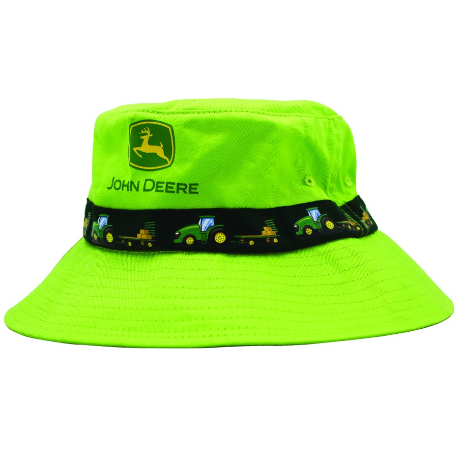 John Deere Kids Yellow or Green Tractor Bucket Hat (JOH176)