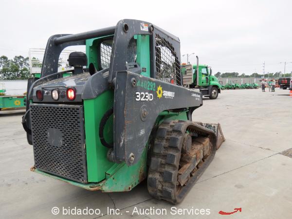 2012 John Deere 323D Skid Steer Rubber Track Bucket Loader ...