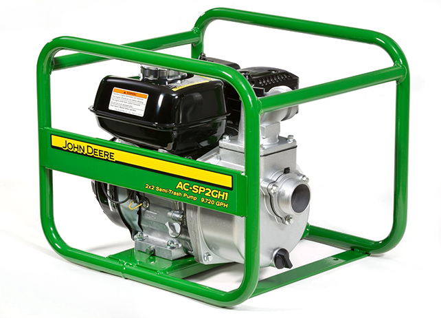 John Deere AC-SP2GS1 126cc Water Pump Semi-Trash Transfer ...