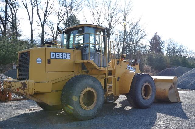 John Deere 724J Loader w/GP Bucket, Forks, Side Dump ...