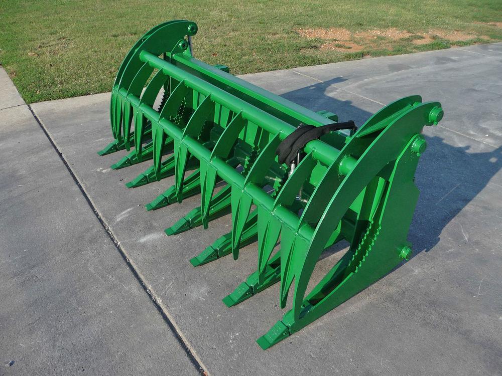 John Deere Tractor Loader Attachment 84 Root Rake Grapple ...