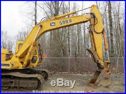 John Deere 590D Hydraulic Excavator Heated Cab Hyd Thumb ...