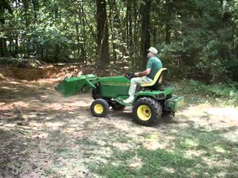 John Deere 455 GT with Buford Bucket - YouTube