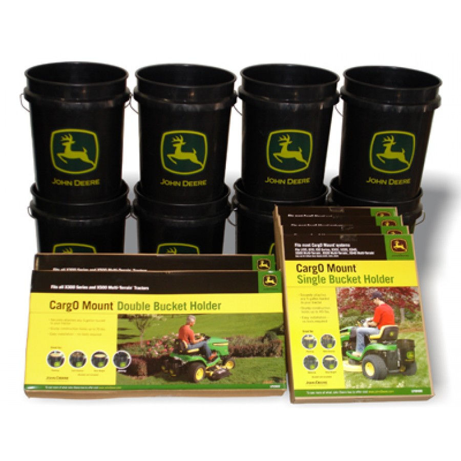John Deere Bucket Holder Combo Package | RunGreen.com