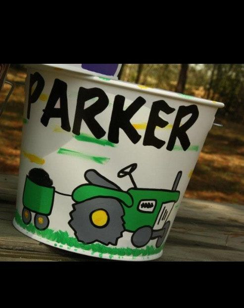 Tractor john deer Easter basket Easter bucket | John deere ...