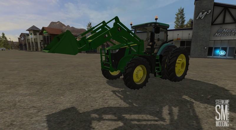 John Deere H480 & bucket v1.0