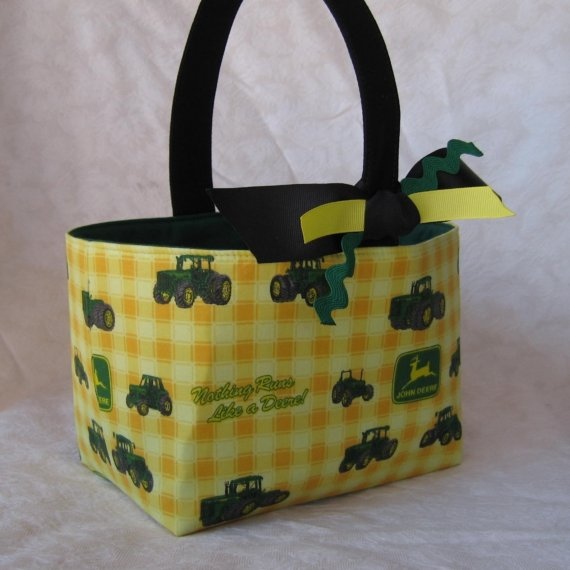 Easter Fabric Basket...............John Deere by BaffinBags