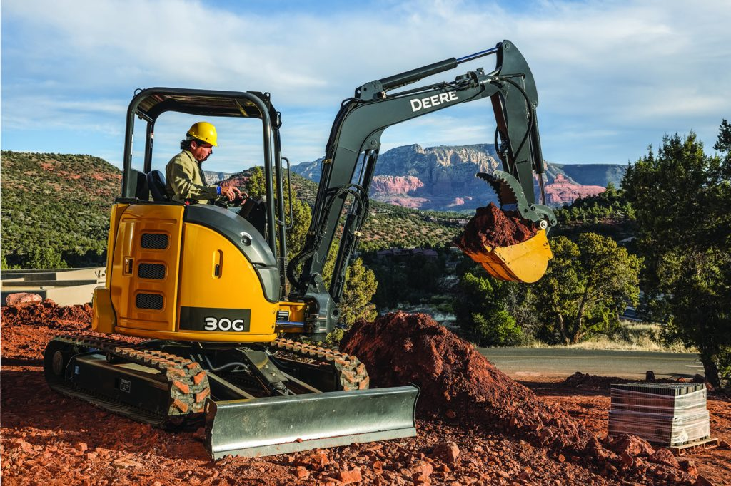 John Deere 30G compact excavator boosts bucket force 22% ...