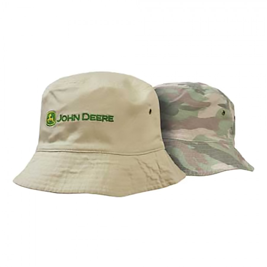 John Deere Bucket Hat - Reversible Pink Camo and Tan ...