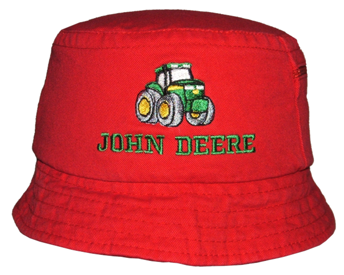 John Deere Red Kids Bucket Hat (ID3122)