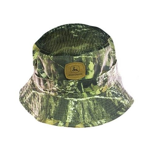 JOHN DEERE FISHERMAN BUCKET HAT MESH CAMO NEW ONE SIZE